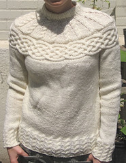 Ravelry: Cabled Yoke Pullover pattern by Patons