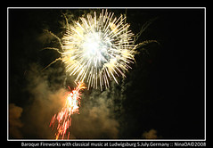 Fireworks with classical music at Ludwigsburg ...