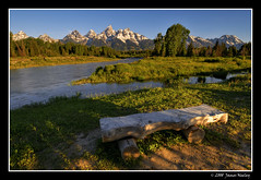 Best Seat in the House (James Neeley) Tags: mountains bench landscape searchthebest tetons hdr grandtetonnationalpark 5xp jamesneeley