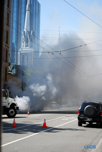 Vancouver Downtown Fire