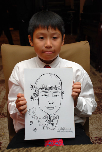caricature live sketching for wedding dinner 120708  - 36