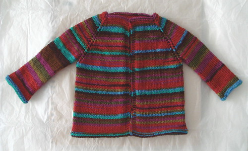 striped baby cardigan