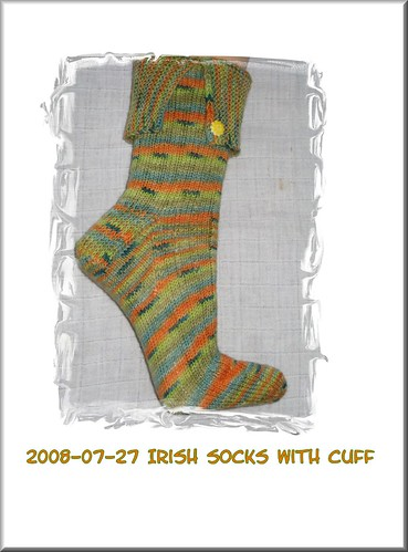 Irish Cuffed Socks