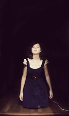 Solitude takes its toll. (olivia bee) Tags: girl kid solitude alone child sad dress darkness emotion hallway solo teenager lonliness lonley teenagephotographer oliviabee
