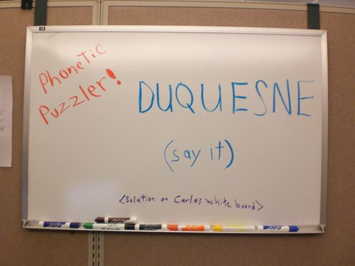 Whiteboard Puzzle - Pronouce This Word