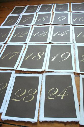 Handpainted Table Numbers