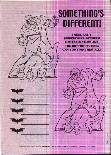 Puzzle page featuring the Scarecrow from The Knight Returns coloring book