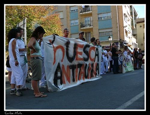 Concentración Antitaurina en Uesca por ti.