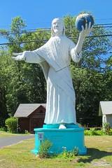 MI OssinekeUS 23 Jesus Statue at Dinosaur Gardens a photo on