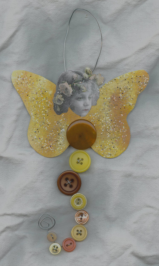 Button Fairy Available - Yellow and Orange