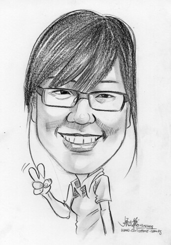 Caricature in pencil 04