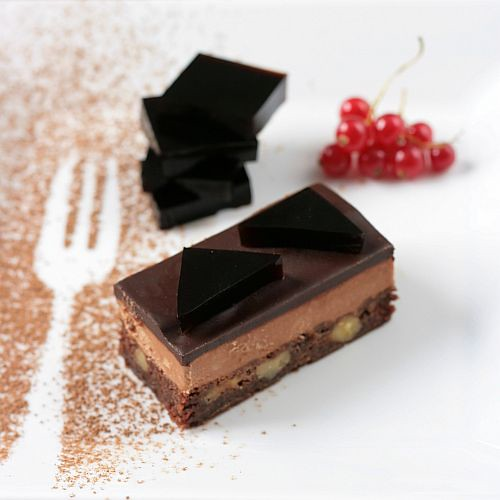 Two Chocolates and Salted Butter Caramel Mousse