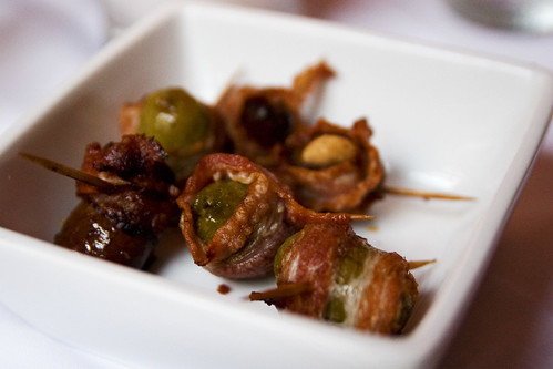 Bacon Wrapped Dates & Olives