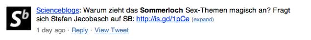 Sommerloch Scieneblog