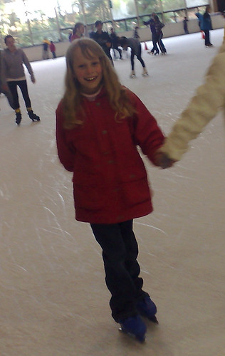 Caitlin ice-skating