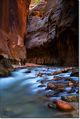 Looking into the Narrows (Phijomo) Tags: longexposure river utah nikon rocks canyon zion zionnationalpark bec virginriver thenarrows zioncanyon d80 bej nikond80 natureoutpost damniwishidtakenthat