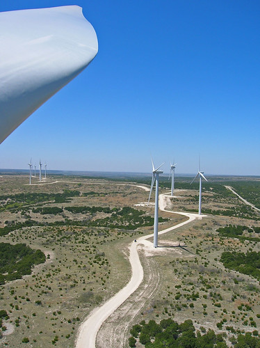 Lovely view from the top of a turbine