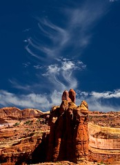 Arches National Park - Navajo Smoke Signals? (Bill Wight CA) Tags: southwest utah redrocks archesnationalpark supershot mywinners abigfave platinumphoto anawesomeshot betterthangood goldstaraward natureselegantshots damniwishidtakenthat billwight