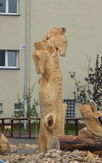 3 Outdoor Meeting of Polish Sculptors in Bierun, Silesia 25-30 august 2008 (romekdziem) Tags: sea sculpture art seahorse outdoor meeting monumental silesia lsk rzeba piotrkw plener piotrkow trybunalski bierun bieru plenerowa