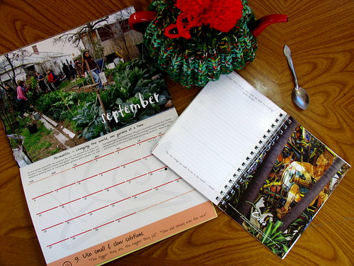 permaculture diary and cal
