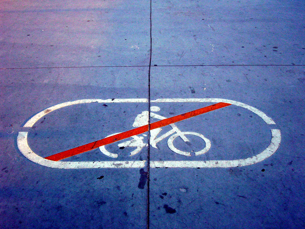 Bicycle forbidden