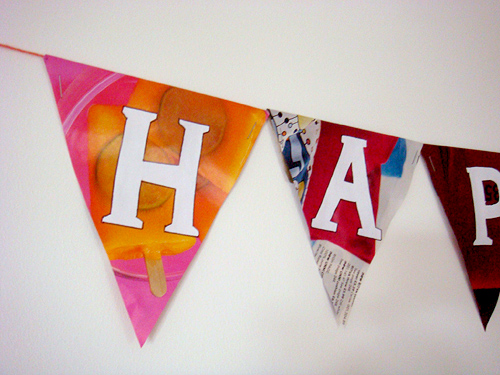 Paper Bunting: Close Up