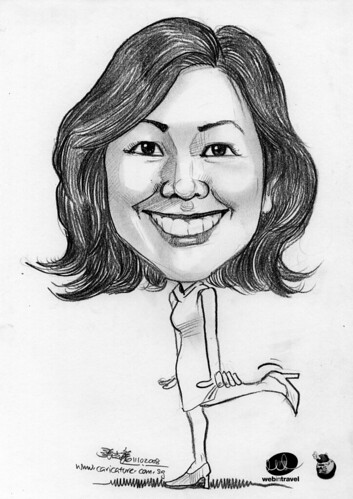 Caricatures Web in Travel 2008 Vivien Yeung