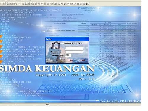 Tampilan SIMDA 2.1
