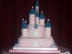 Marissa's Princess Castle Cake (Elysia in Wonderland) Tags: pink party castle cake princess disney christening marissa elysia