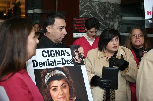 cigna protest