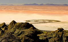 "great Salt Lake, Utah; Mystery Spiral (Scott Stringham ""Rustling Leaf Design"") Tags: cloud lake storm mountains art me beer weather clouds canon landscape island photography design utah photo leaf nice sand play view desert graphic walk great salt windy loveit greatsaltlake photograph buy miles gsl thegreatsaltlake rld keeper sps spiraljetty rustling flightsoffancy scottstringham designmy wwwrustlingleafdesigncom itsbigenoughforall ourgreatsaltlake"