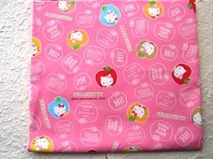 Cute Japanese Cotton Fabric-Hello Kitty (kawaii_fabric_and_paper) Tags: pink cute japan japanese hellokitty sanrio fabric cotton commercial cloth supplies