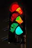 To go or not to go? (rcateni) Tags: street blue light red color green yellow nikon traffic milano semaforo riccardo d60 colorphotoaward cateni
