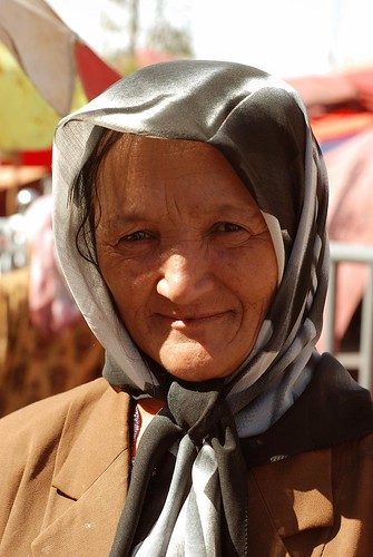 Uyghur woman at the Kashgar market, Xinjiang, China by nadzenka