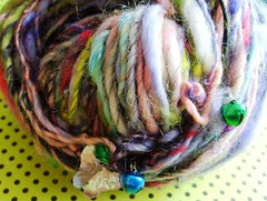 suagr coated easter bunnies 3 (rosie.ok) Tags: wool bells rainbow knitting handmade craft yarn fiber sequins woollen handspun fibre