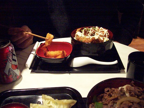 Delicious Japanese food at Pompoko, Brighton