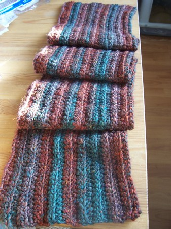 stripyribbed scarf