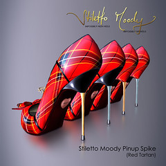 Stiletto Moody Pinup Spike (Red Tartan - Black) (Stiletto Moody) Tags: black sexy shoes highheels moody heart chain pump secondlife heels spike stiletto pinup tartan patent spikeheels moodys womansshoe stilettomoody redtartan impossiblyhighheels impossiblyhipheels tartanspike pinupspike stilettomoodypinupspikeredtartan
