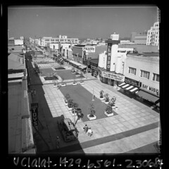 Santa Monica, 1965 (jericl cat) Tags: street vintage shopping photo losangeles theater district santamonica archive pedestrian historic ucla promenade 3rd losangelestimes elmiro