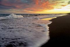 Caspian Beach   (<T-Y>) Tags: sunset sea sky sun beach water reflex scenery horizon scene caspian mazandaran
