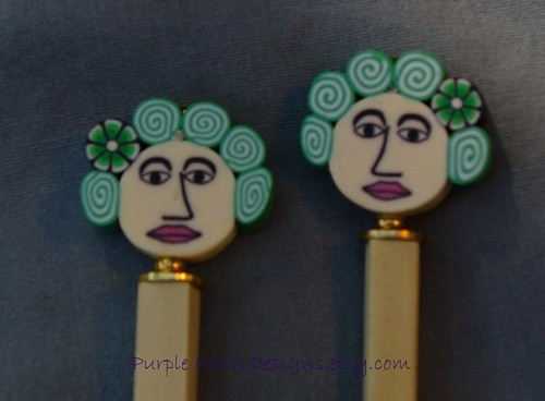Green Hair Lady Hair Stick
