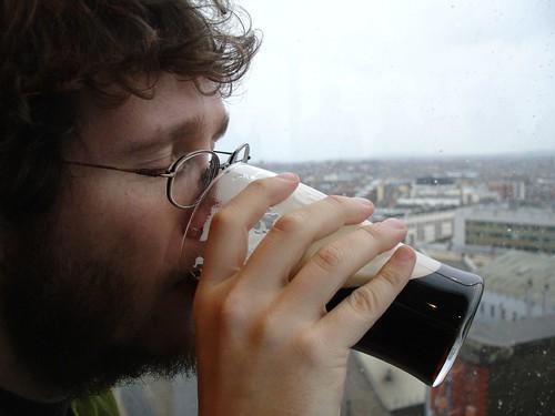 Joe in Dublin with Guinness