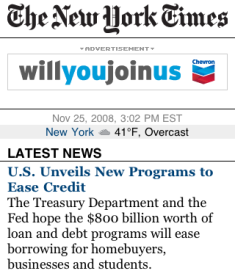 NYT mobile site