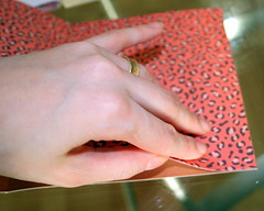 Attaching paper to cardstock