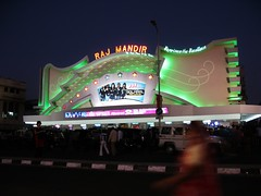Raj Mandir ready for the night rush - Jaipur, india