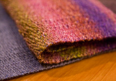 Organik/Silk Garden Woven Scarf (LollyKnit) Tags: wool organic weaving noro handwoven silkgarden fibrecompany schachtbabywolf