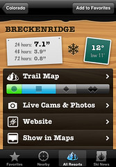 Ski Lodge (for iPhone) - Resort detail view