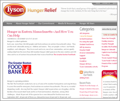 Tyson Hunger Relief is the DIFF