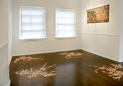 Sandrine Pelletier: Insekts - Installation shots. (fette's gallery) Tags: embroidery fabric installations soloexhibition fettesgallery sandrinepelletier swissartist