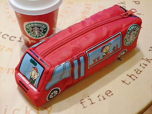Starbucks coffee Christmas experience car pouch